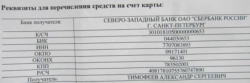 реквизиты-сбербанка карты виза 49___77
