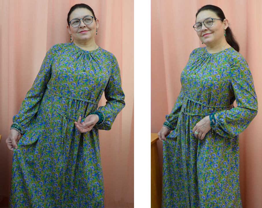как кроить платье бохо